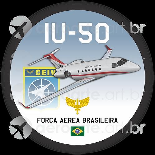 Adesivo Bolacha Embraer Legacy 500 FAB (IU-50 - GEIV)