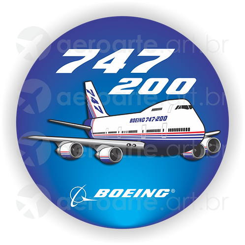 Adesivo Bolacha Boeing 747-200