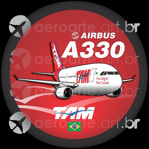 Adesivo Bolacha Airbus A330 TAM