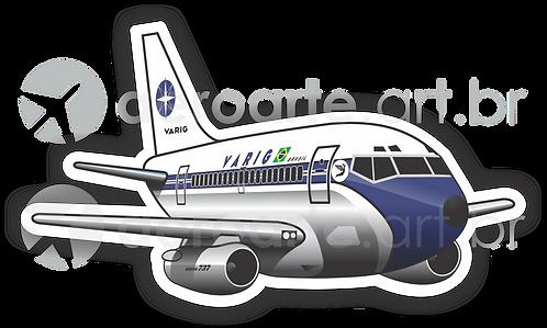 Adesivo Silhueta Boeing 737-200 VARIG