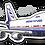 Thumbnail: Adesivo Silhueta Boeing 747-200