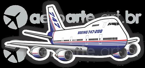 Adesivo Silhueta Boeing 747-200