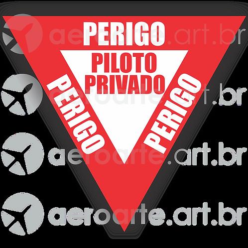 Adesivo Perigo: Piloto Privado