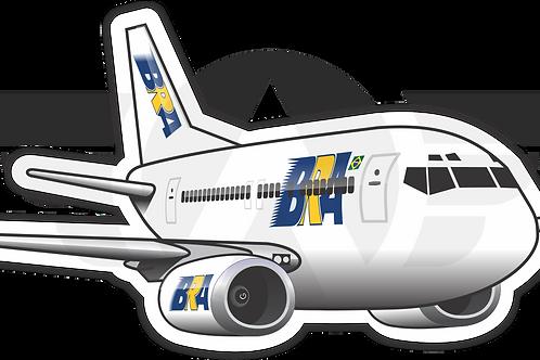 Adesivo Silhueta Boeing 737-400 BRA