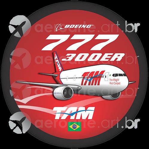 Adesivo Bolacha Boeing 777-300ER TAM