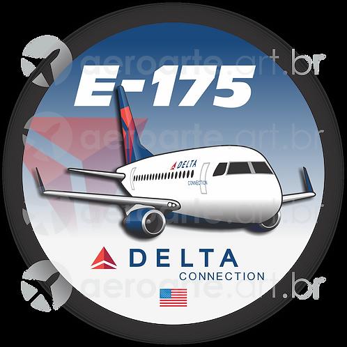 Adesivo Bolacha Embraer 175 Delta Connection