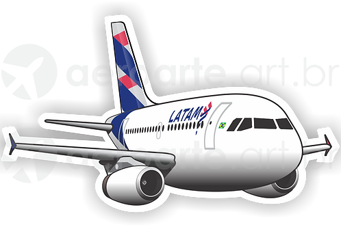 Adesivo Silhueta Airbus A319 IAE LATAM
