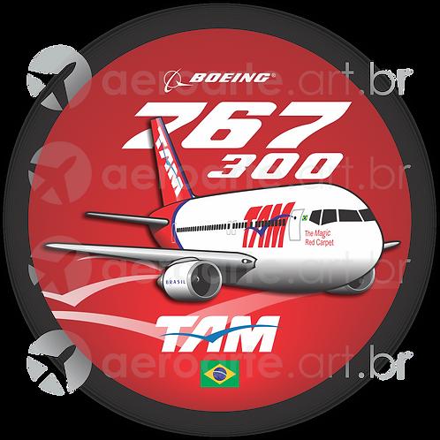 Adesivo Bolacha Boeing 767-300 TAM