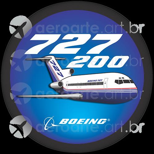 Adesivo Bolacha Boeing 727-200