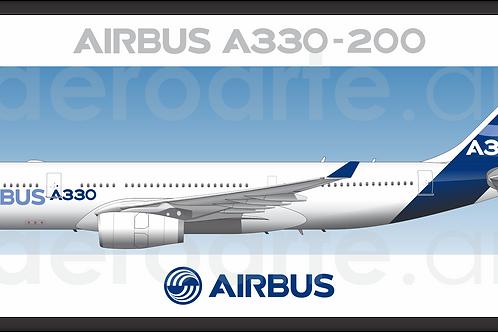 Adesivo Perfil Airbus A330 2ª Pintura