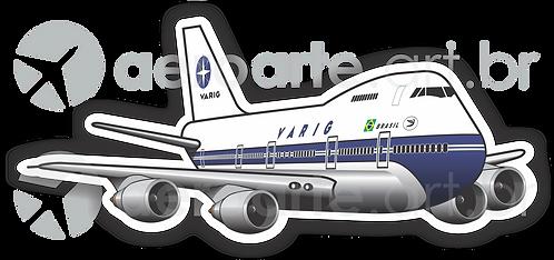 Adesivo Silhueta Boeing 747-200 VARIG