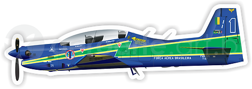 Adesivo Perfil Embraer T-27 Tucano