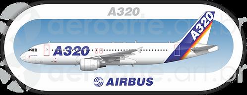 Adesivo Perfil Airbus A320 CFM