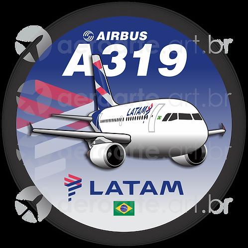 Adesivo Bolacha Airbus A319 CFM LATAM