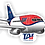 Thumbnail: Adesivo Silhueta Boeing 737-200 TAF