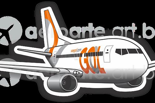 Adesivo Silhueta Boeing 737-800 GOL 3ª Pintura