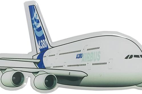Adesivo Resinado Silhueta Airbus A380