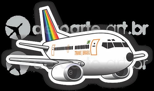 Adesivo Silhueta Boeing 737-300 Transbrasil 1ª Pintura