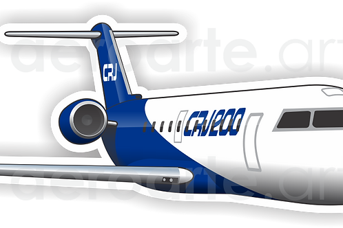 Adesivo Silhueta Bombardier CRJ-200