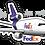 Thumbnail: Adesivo Silhueta Douglas DC-10 FedEx