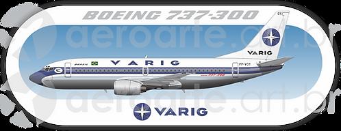 Adesivo Perfil Boeing 737-300 VARIG