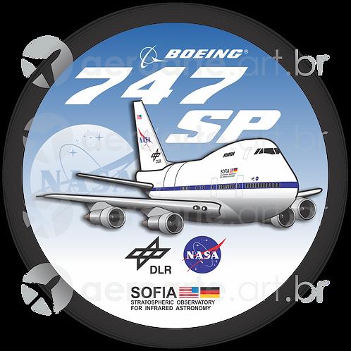 Adesivo Bolacha Boeing 747SP NASA SOFIA