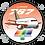 Thumbnail: Adesivo Bolacha Boeing 767 Transbrasil Laranja