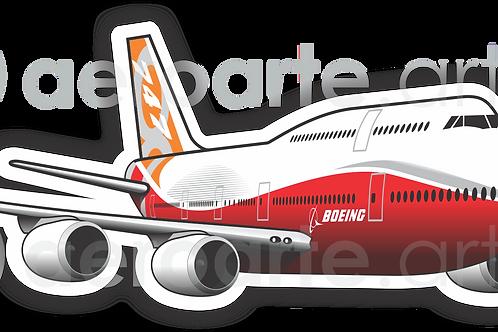 Adesivo Silhueta Boeing 747-8