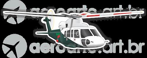 Adesivo Silhueta Sikorsky S-76 TUPI OIL