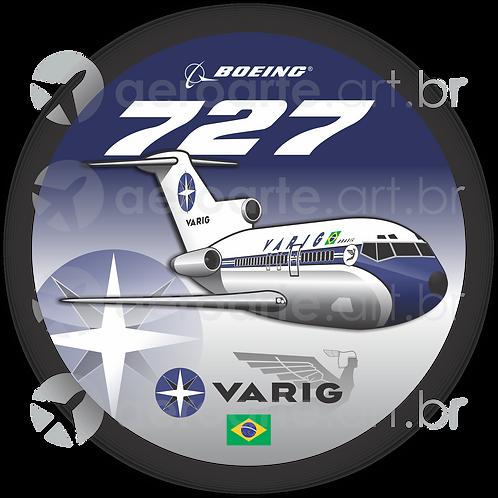 Adesivo Bolacha Boeing 727 VARIG