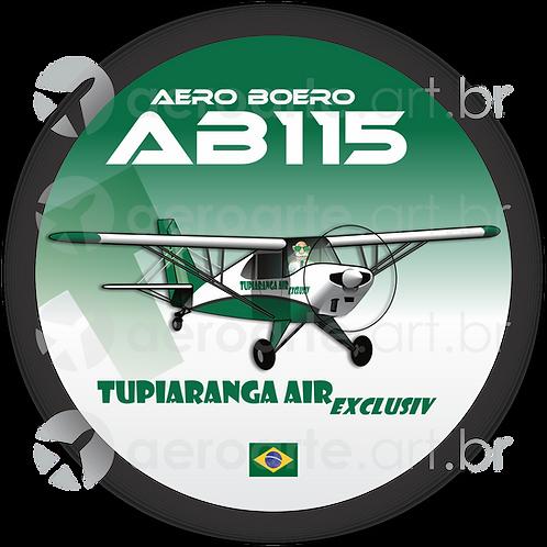 Adesivo Bolacha Aero Boero AB-115 TUPIARANGA AIR EXCLUSIV
