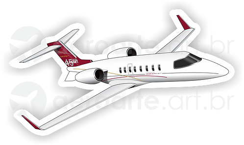 Adesivo Silhueta Learjet 45