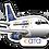 Thumbnail: Adesivo Silhueta Boeing 737-200 ATA Brasil
