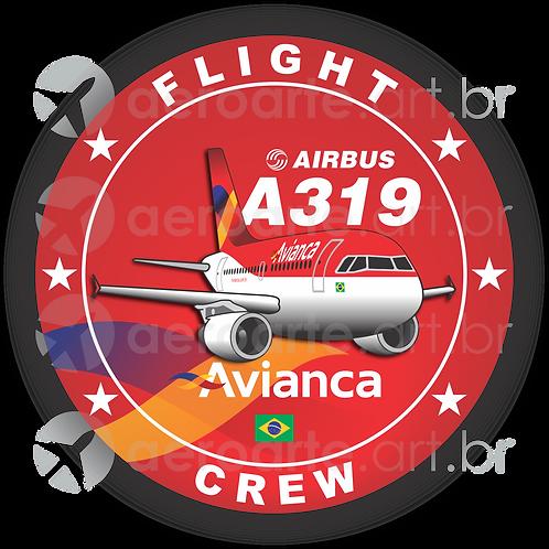 Adesivo Bolacha Airbus A319 CFM Avianca Brasil old colors