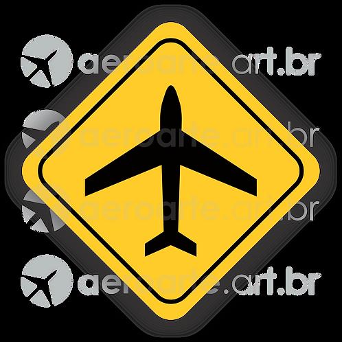 Adesivo Placa Avião