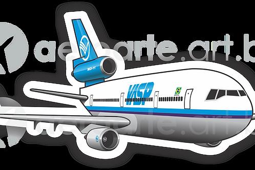 Adesivo Silhueta McDonnell Douglas MD-11 VASP