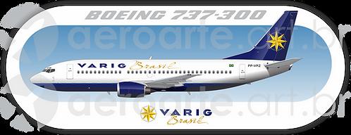 Adesivo Perfil Boeing 737-300 VARIG 2a Pintura