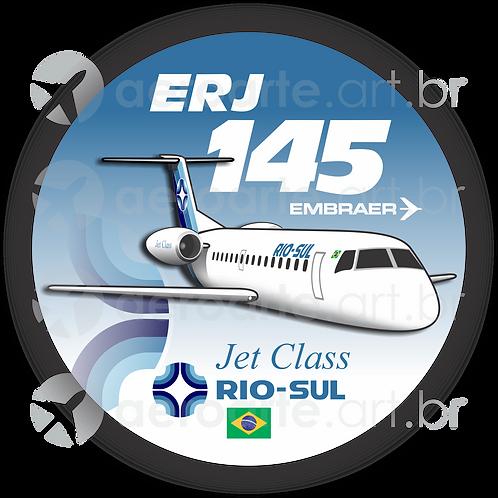 Adesivo Bolacha Embraer ERJ-145 Rio-Sul