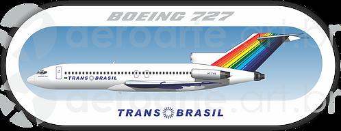 Adesivo Perfil Boeing 727-100 Transbrasil