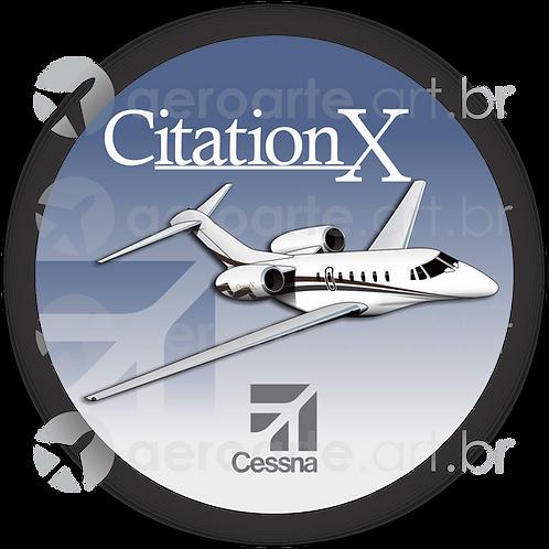 Adesivo Bolacha Cessna Citation X