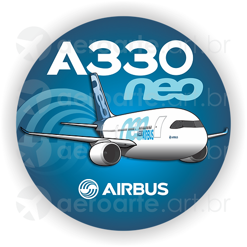 Adesivo Bolacha Airbus A330 NEO