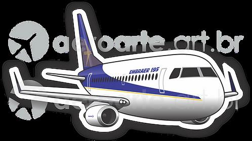 Adesivo Silhueta Embraer 195