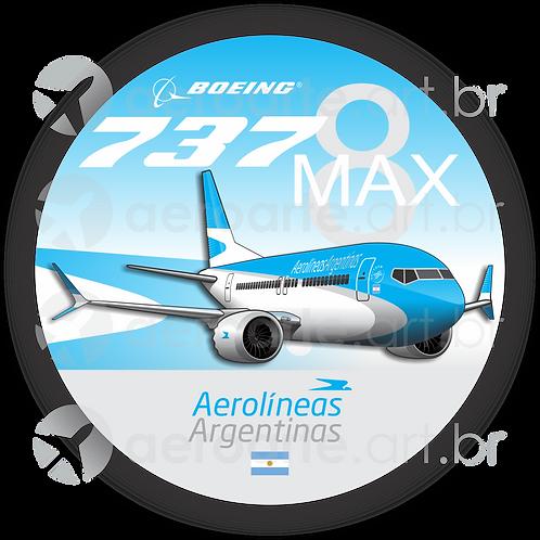 Adesivo Bolacha Boeing 737MAX 8 Aerolíneas Argentinas