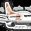 Thumbnail: Adesivo Silhueta Boeing 737-700 GOL 1ª Pintura