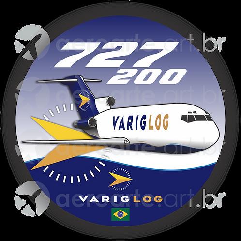 Adesivo Bolacha Boeing 727-200F VARIG LOG