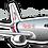 Thumbnail: Adesivo Silhueta Boeing 767-300F Florida West