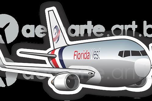 Adesivo Silhueta Boeing 767-300F Florida West