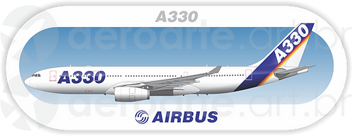 Adesivo Perfil Airbus A330 1ª Pintura