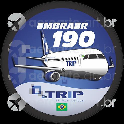 Adesivo Bolacha Embraer 190 TRIP