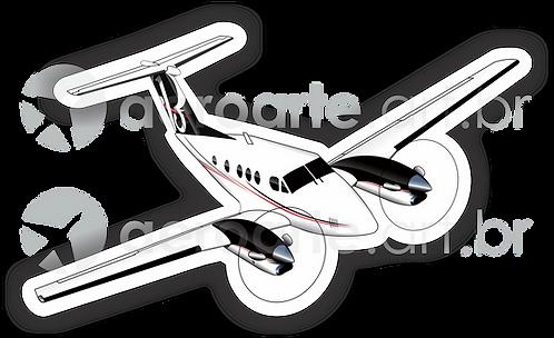 Adesivo Silhueta Beechcraft King F90